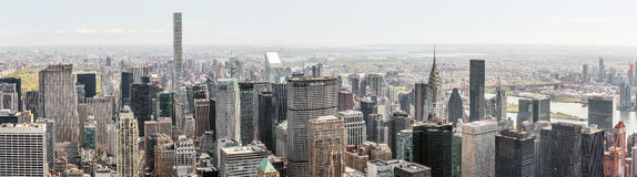 New York City streets and skyscrapers panorama royalty free stock image