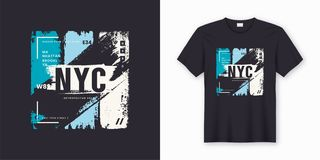 Free New York City Stylish T-shirt And Apparel Abstract Design Stock Image - 126811511