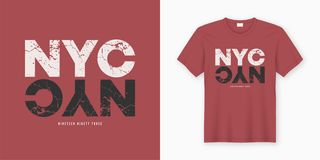 New York City stylish t-shirt and apparel design. Vector print, Vector Illustration