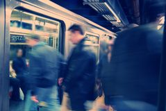 New York City Subway. Rush Hour on New York City Subway System Royalty Free Stock Image