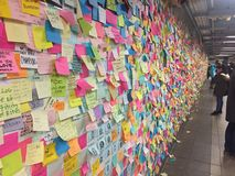 New York City subway with election notes Royalty Free Stock Image