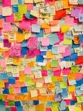 New York City subway election notes Royalty Free Stock Image