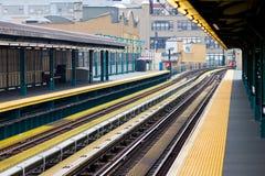 New York City Subway. Platform and tracks Royalty Free Stock Photography