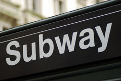 New York City subway sign Stock Images