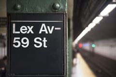 New York City subway sign Royalty Free Stock Photography