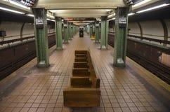 New York City subway station in Brooklyn, NYC Royalty Free Stock Photo