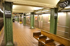 New York City subway station in Brooklyn, NYC Stock Images
