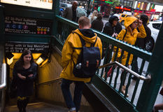 New York City subway station Royalty Free Stock Photography