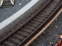 New York City Subway Tracks Stock Photo