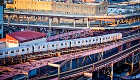 New York City subway train Royalty Free Stock Image