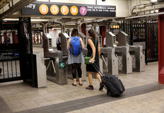 New York City Subway Turnstile Stock Photos