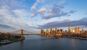 New York City at sunrise Royalty Free Stock Photo