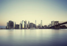 New York City sunrise Royalty Free Stock Photography