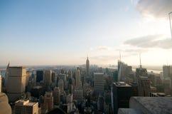 New York City at sunset Stock Photos