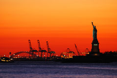 New York City Sunset royalty free stock photography