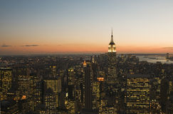 New York City at sunset Royalty Free Stock Images