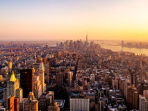 New York City at sunset Royalty Free Stock Image
