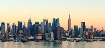 New York City sunset royalty free stock photo