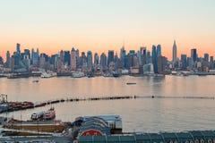 New York City sunset Royalty Free Stock Image