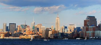 New York City Sunset Panorama Royalty Free Stock Photography