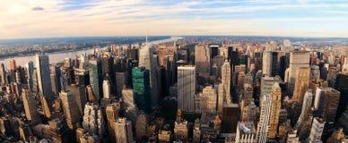 New York City sunset panorama Stock Photos