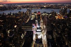 New York City at sunset. View of New York City at sunset Royalty Free Stock Images