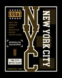 New York City T-shirt Graphic Vector. Typography Design New York City T-shirt Graphic Vector Image Stock Photo