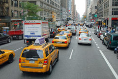 The New York City Taxi. With their distinctive yellow paint are widely recognized icon of the city Stock Images