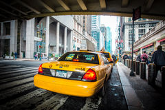 New York City taxi Arkivfoton