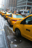 New York City Taxi Cab Stand Stock Photo