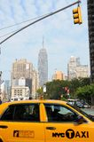 New York City Taxi, Empire state building Royalty Free Stock Image
