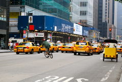 The New York City Taxi on June 2008 in NYC Royalty Free Stock Photo