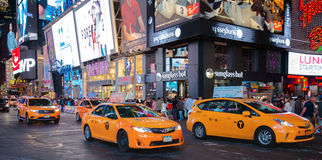 New York City Taxi, Times Square Royalty Free Stock Image