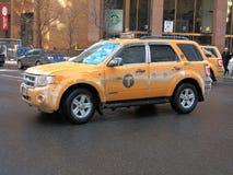 New York City Taxi in Winter Stock Photos