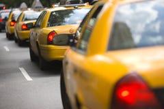 New York City taxiar Arkivbilder