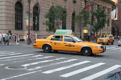 New York City Taxis royaltyfria foton