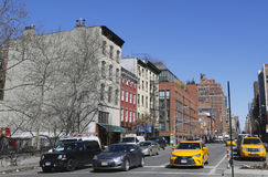 New York City Taxis at Ninth Avenue in Lower Manhattan. Stock Photo