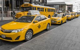 New York city taxis Royalty Free Stock Photos