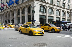 New York City taxis Royalty Free Stock Photo