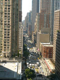 New York City 7th avenue looking South Stock Photography