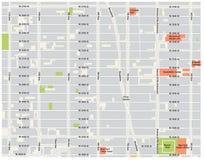 New york city, theater district, midtown manhattan vector map.  stock illustration