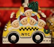 New York City themed Christmas ornaments Stock Photos
