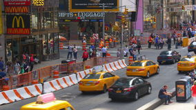 New york city time square summer day traffic crossroad 4k usa. Usa new york city time square summer day traffic crossroad 4k stock video