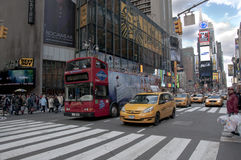 New york city times square. A shot of times square - 42 street Royalty Free Stock Photo