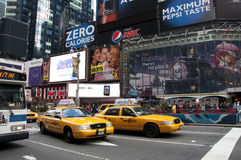 New york city times square. A shot of times square - 42 street Royalty Free Stock Image