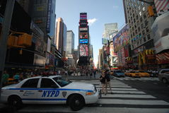 New York City times square. View of New York City streets Royalty Free Stock Photography