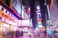 New York City Times Square with people Stock Photography
