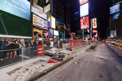 NEW YORK CITY, Times Square reconstruction Royalty Free Stock Image