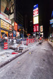 NEW YORK CITY, Times Square reconstruction Royalty Free Stock Photos