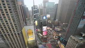 New york city times square timelapse stock footage